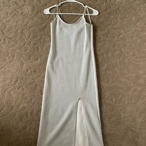 Top shop midi dress silver
